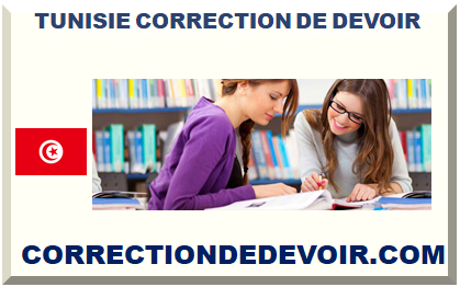 TUNISIE CORRECTION DE DEVOIR
